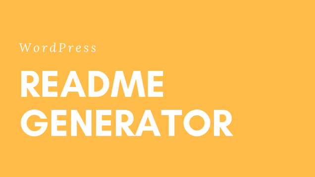 WP Readme Generator